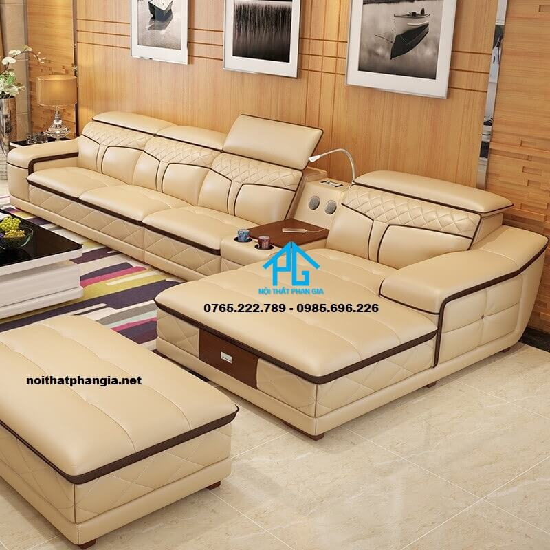 Sofa da hiện đại E19