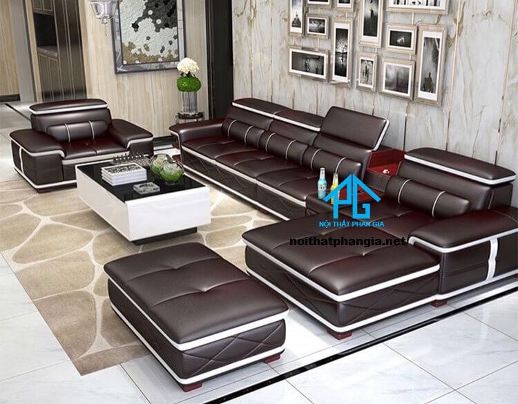 Sofa da hiện đại E307 - B