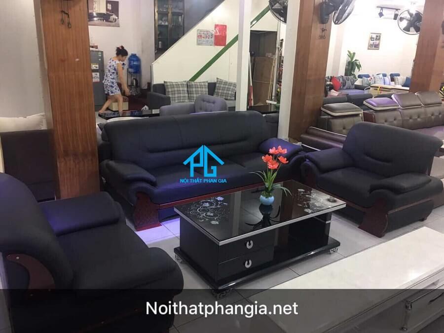 Sofa da hiện đại văn phòng E001