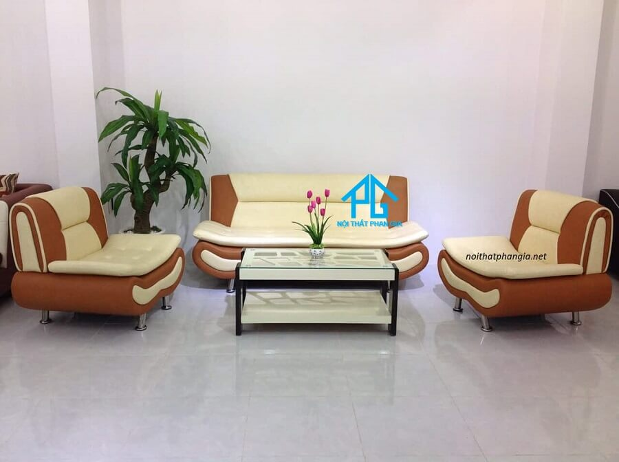 Sofa da hiện đại văn phòng E002
