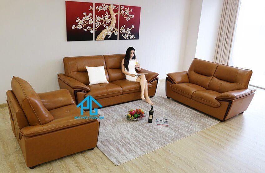 Sofa da nhập khẩu KB304