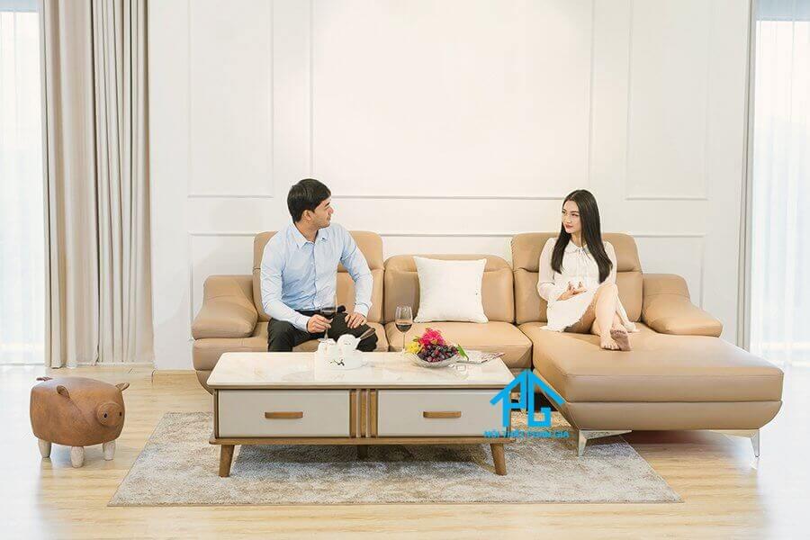 Sofa da nhập khẩu PG 0305