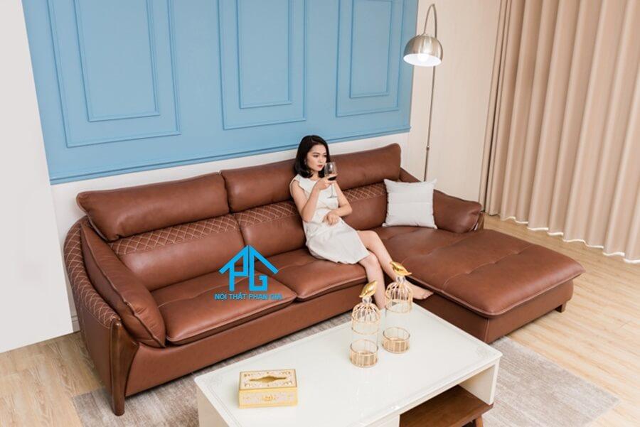 Sofa da nhập khẩu PG 6730