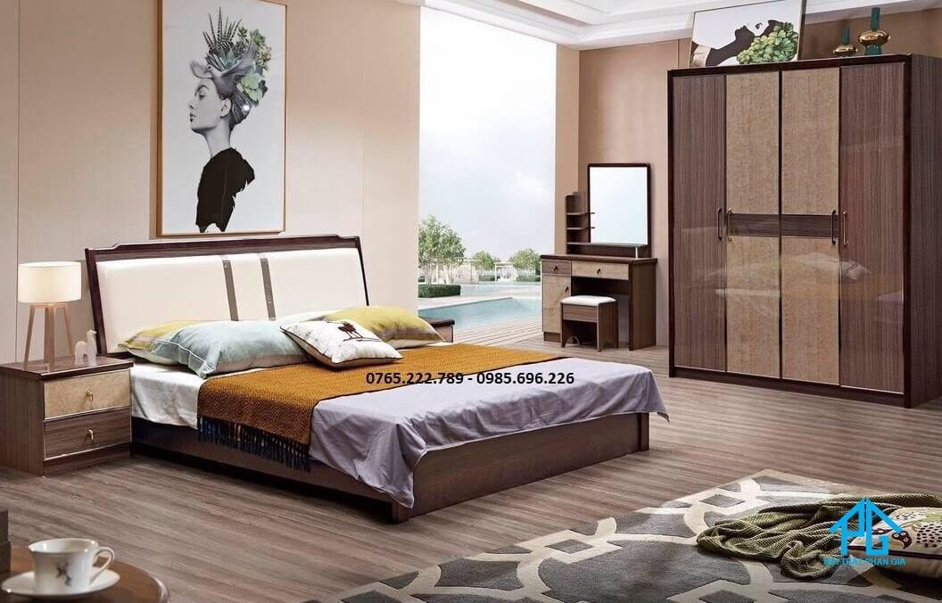 tab đầu giường bằng gỗ tinh tế;