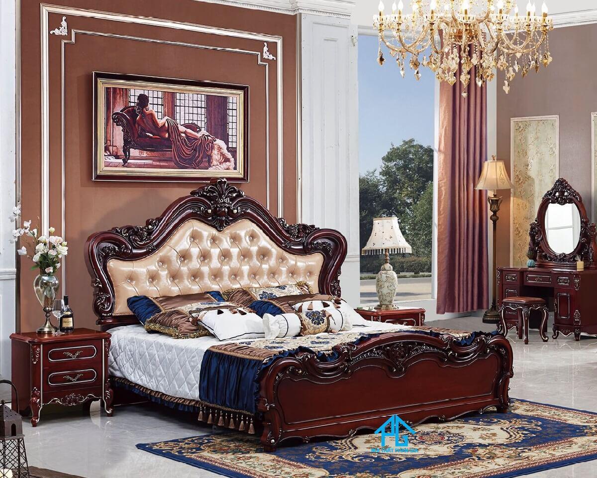 tab đầu giường gắn liền với giường ngủ;