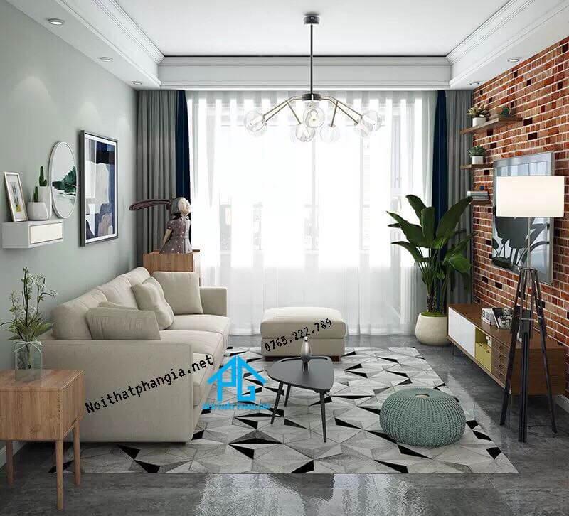 bộ sofa nỉ phòng khách;