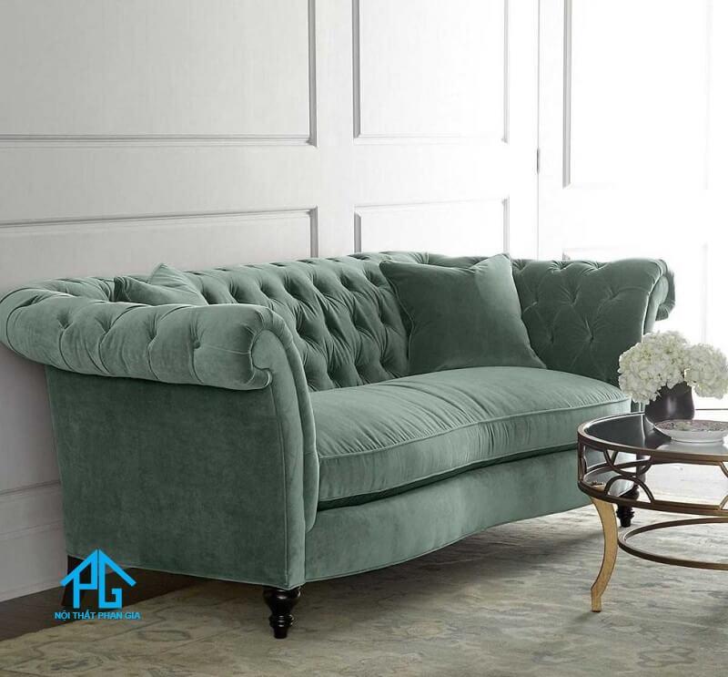 sofa nhung phòng khách lớn