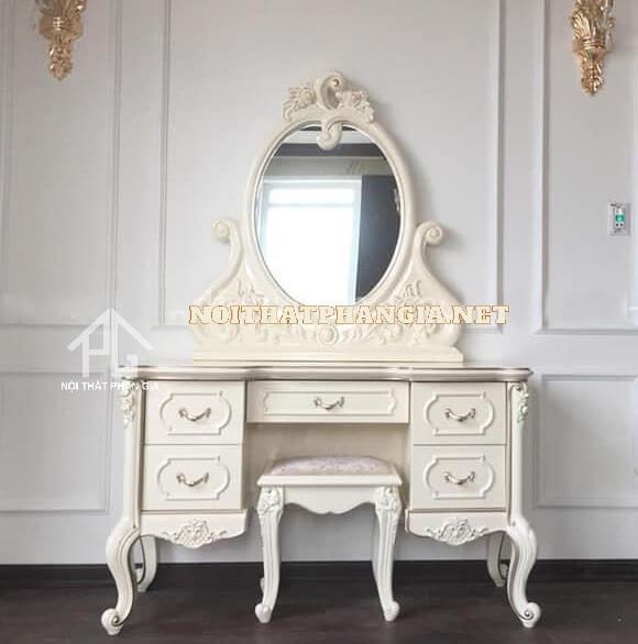 bàn trang điểm màu trắng CDM39