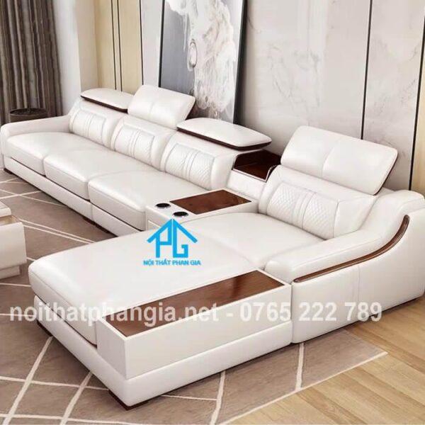 bộ ghế sofa da e16b