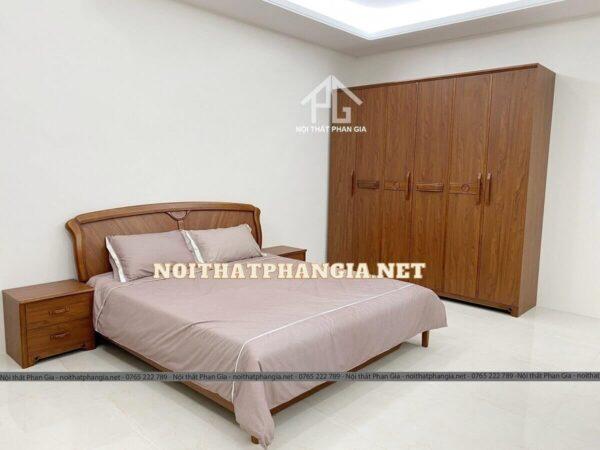 Bộ giường ngủ đẹp hiện đại nhập khẩu AB 035C