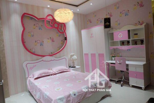 bộ giường tủ bé gái 9902 đẹp