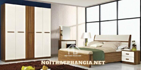 bộ giường tủ gỗ hiện đại ab9608b