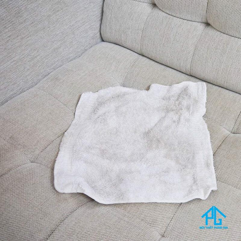cách làm sạch ghế sofa vải bố