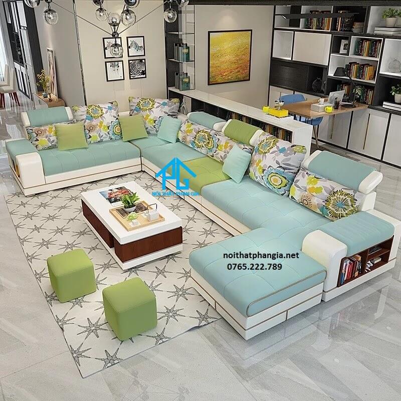 đóng sofa vải nhung theo yêu cầu;