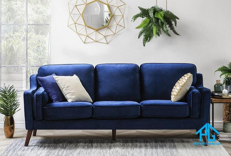 đóng sofa vải nhung theo yêu cầu