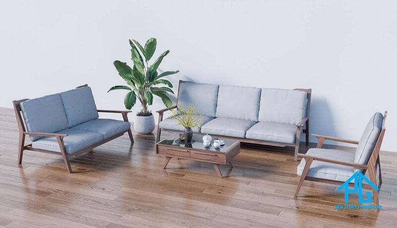 ghế sofa gỗ đơn giản