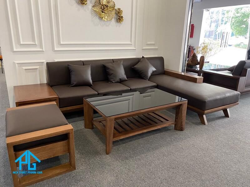 ghế sofa gỗ tự nhiên