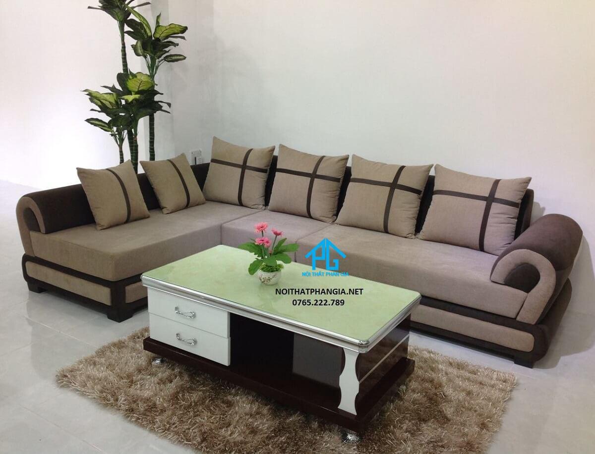 ghế sofa vải bố phòng khách;
