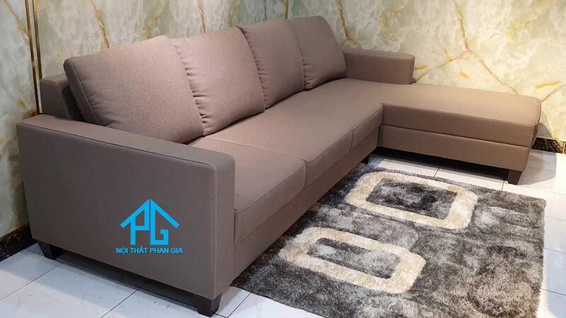 ghế sofa vải bố phòng khách