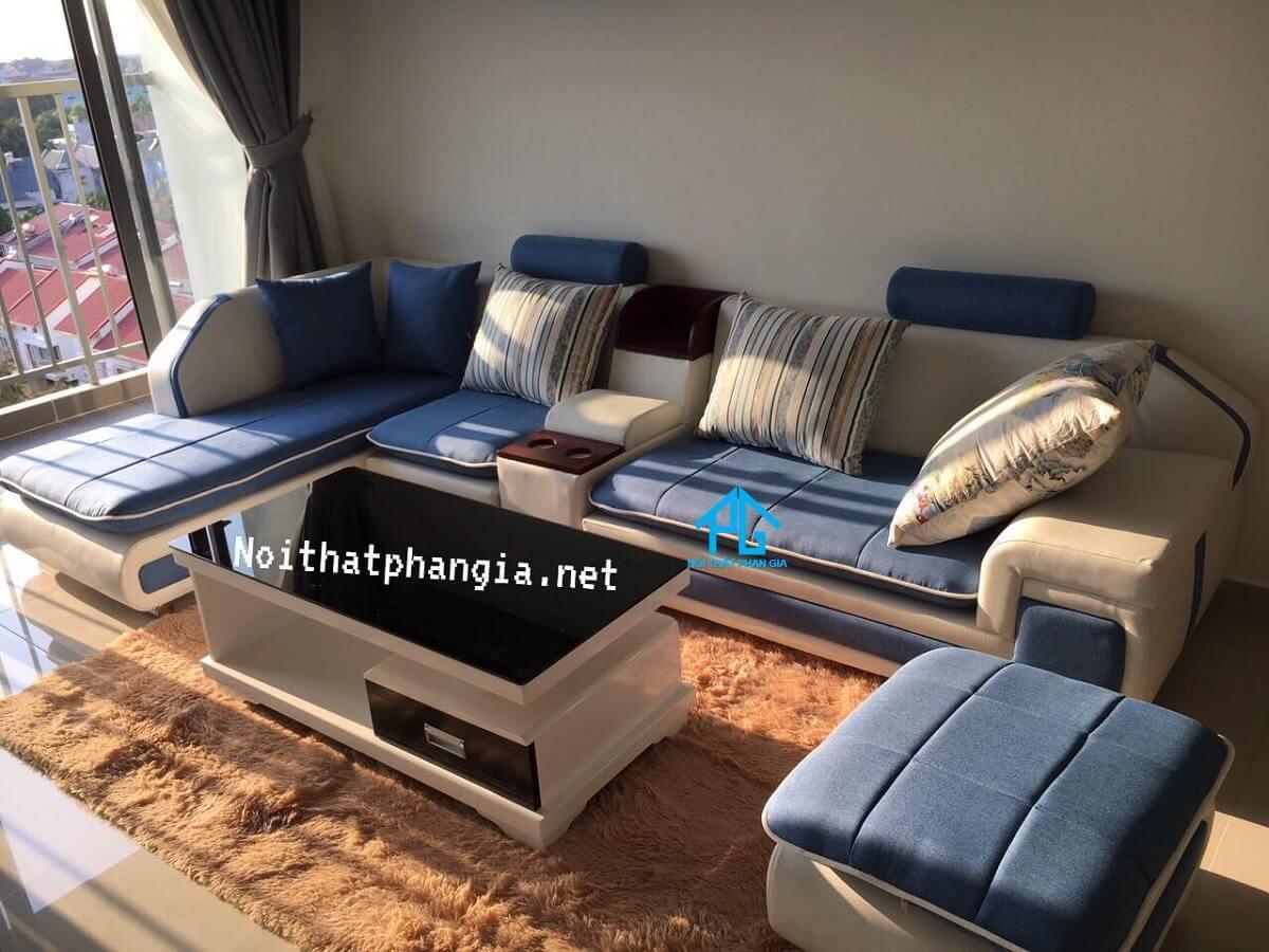 ghế sofa vải nhung cho phòng khách;