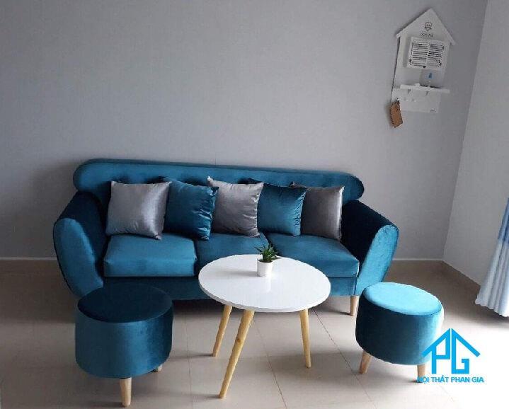 ghế sofa vải nhung cho phòng khách
