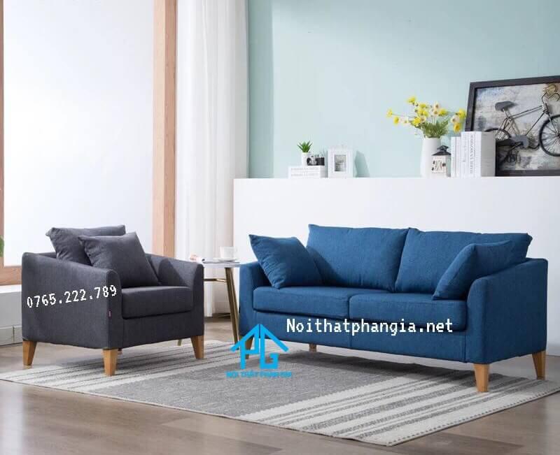 ghế sofa vải nỉ phòng rộng;
