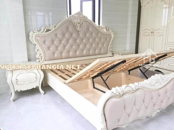 giường ngủ màu trắng CDM39