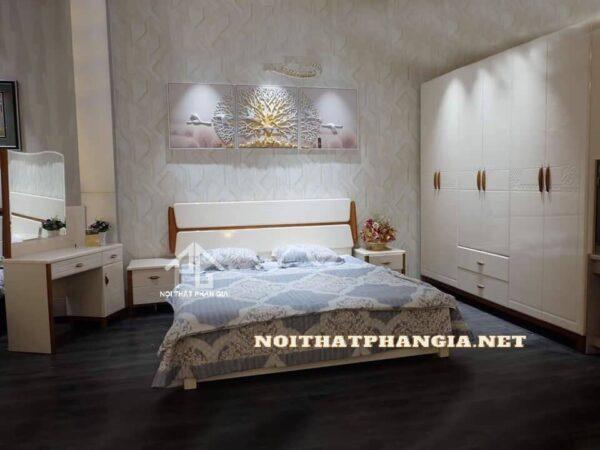 giường tủ gỗ hiện đại ab9608b