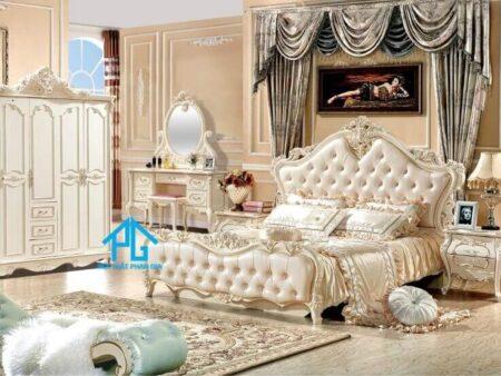 giường tủ màu trắng CDM39