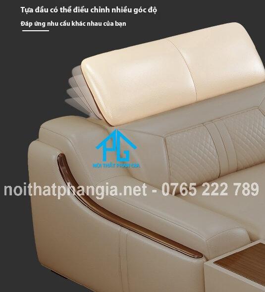 mẫu ghế sofa da đẹp e16b
