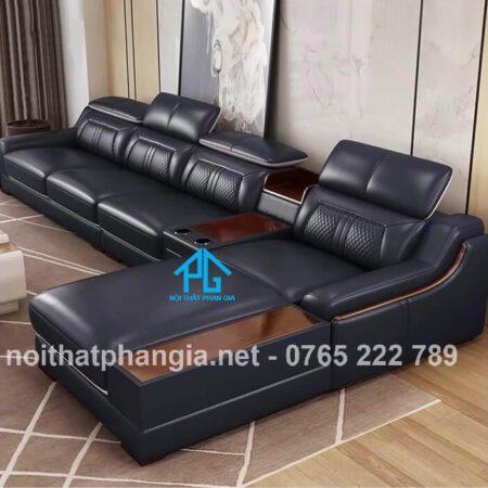 mẫu ghế sofa da e16b chất lượng