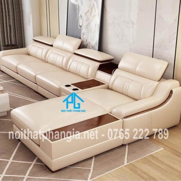 mẫu ghế sofa da e16b đẹp