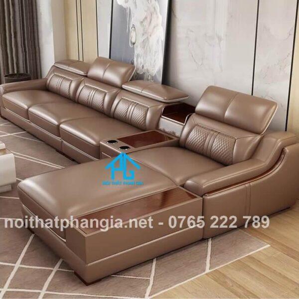 mẫu ghế sofa da e16b giá rẻ