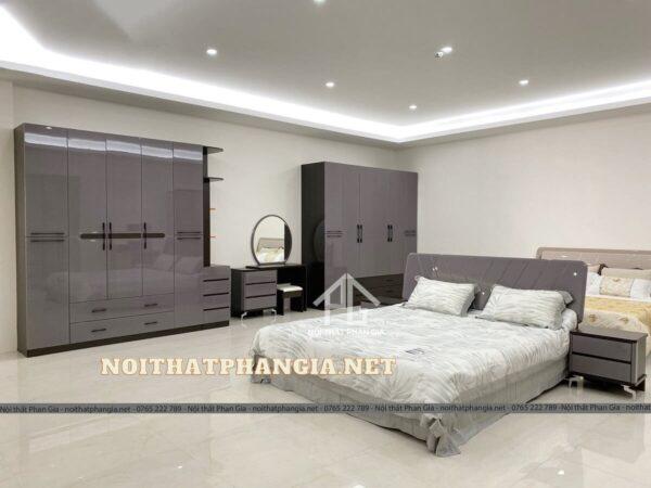mẫu giường tủ phòng ngủ gỗ công nghiệp PG8502t