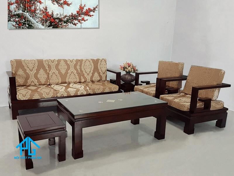 salon sofa gỗ chất lượng