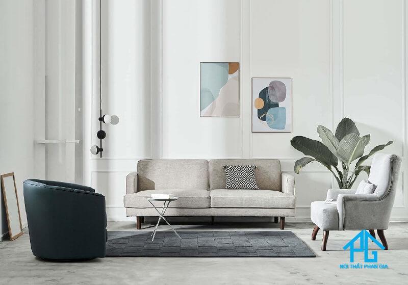 sofa băng vải bố