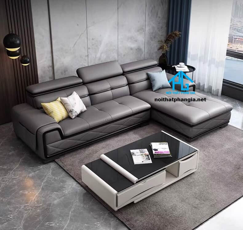 Sofa da hiện đại E07-AN