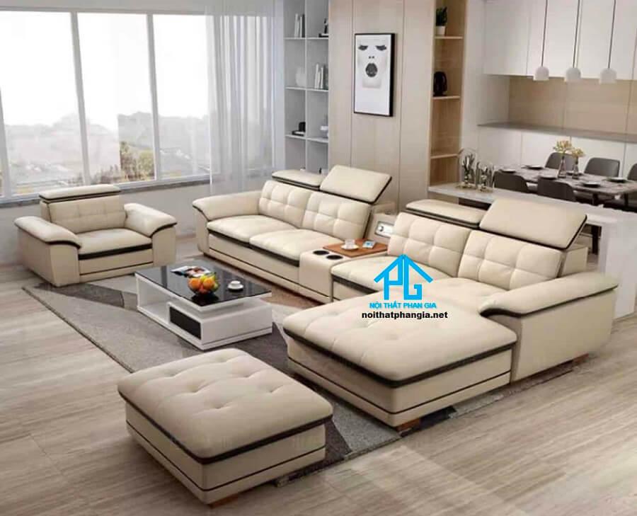 Sofa da hiện đại E12 - AB