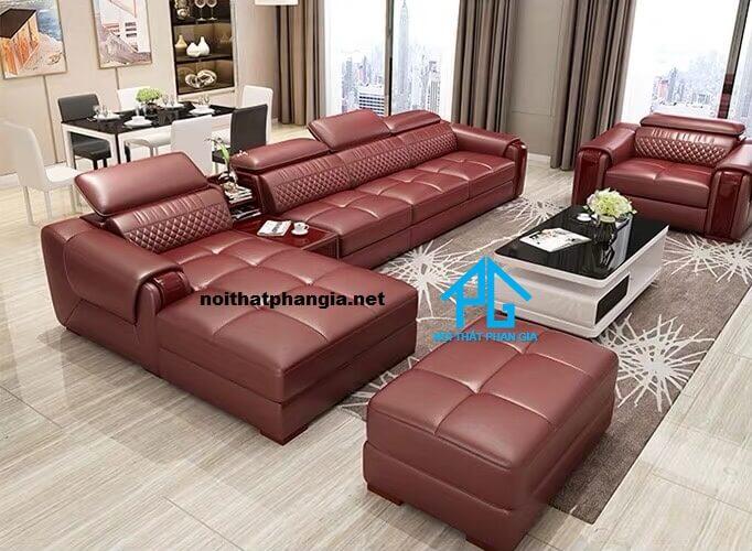 Sofa da hiện đại E15-AS