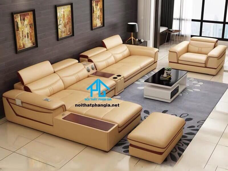 Sofa da hiện đại E20- AB