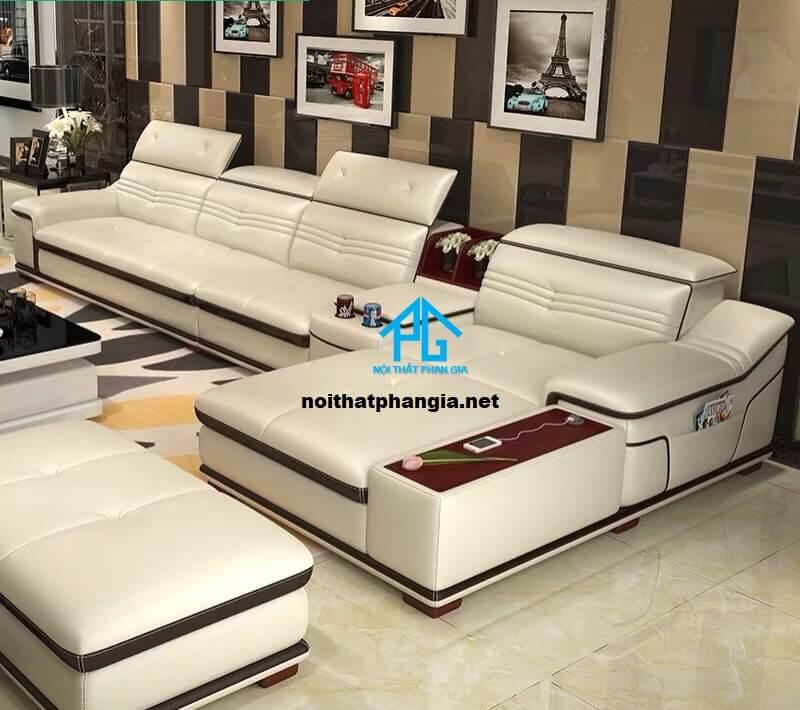 Sofa da hiện đại E22-AA