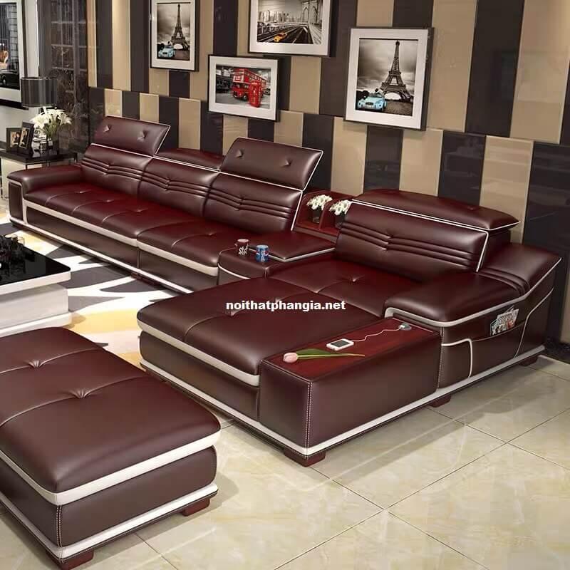 Sofa da hiện đại E22-AC