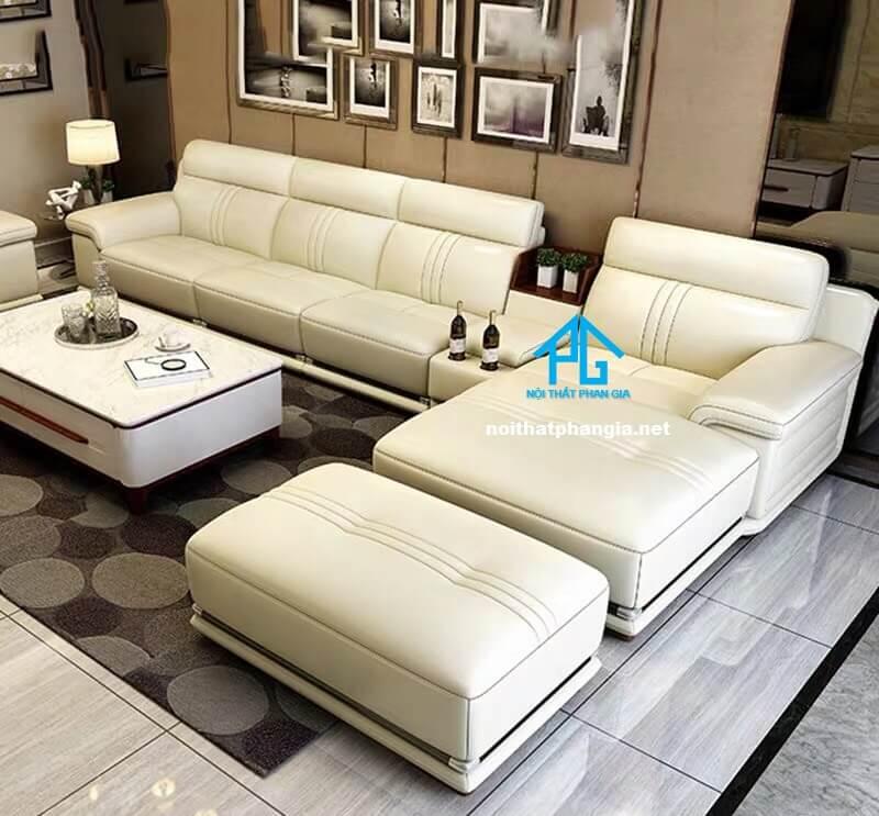 Sofa da hiện đại E24-A