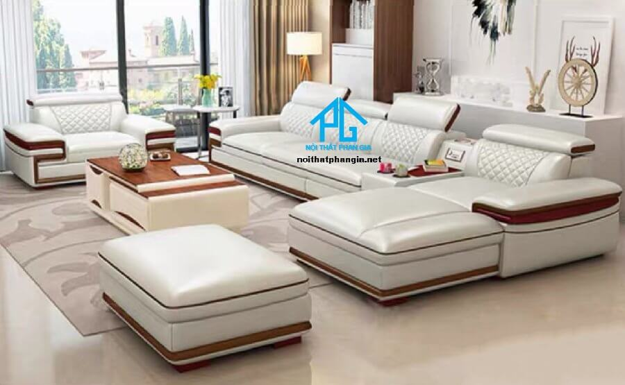 Sofa da hiện đại E25-AA