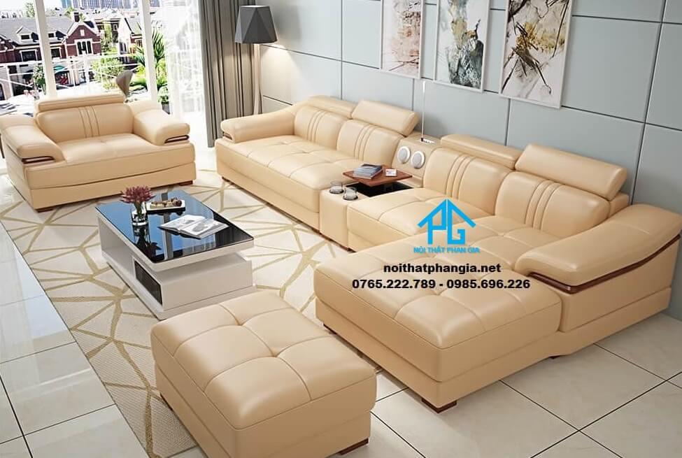 Sofa da hiện đại E27-AA