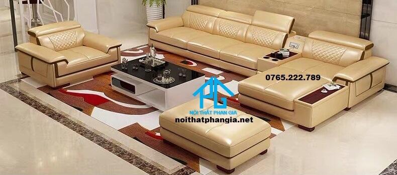 Sofa da hiện đại E34-AA