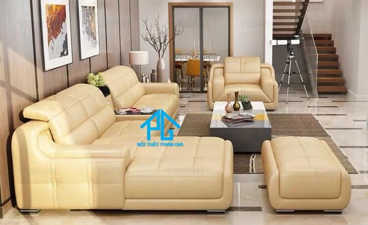 Sofa da hiện đại E35 – D