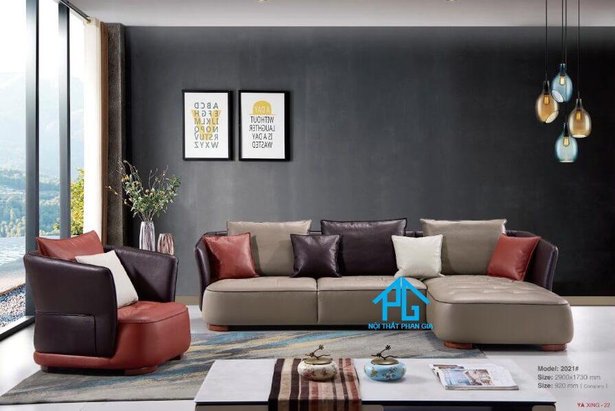 Sofa da nhập khẩu cao cấp kb2021