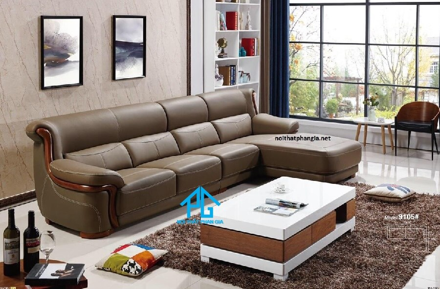 Sofa da nhập khẩu KB9105