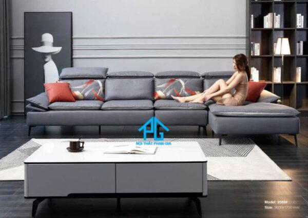 Sofa da nhập khẩu PG 2053